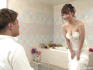 Japanese babe is about to get married, but she wants the best man's dick