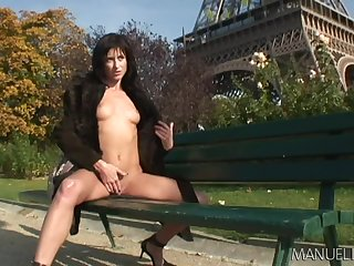 Eiffel tower masturbation scenes leads to some naughty car fun