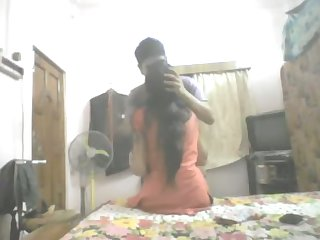 All natural amateur Indian housewife gets her boobies sucked by hubby