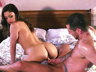 Rough ass and pussy drilling for stunning pornstar Aletta Ocean