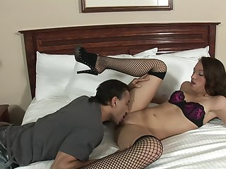 Homemade erotic movie with adorable girlfriend sucking and riding