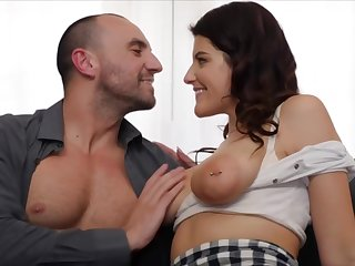 Michele James is a sweet brunette with a nicely trimmed pussy, who likes to have casual sex