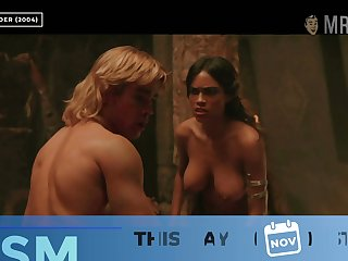 Rosario Dawson showing her big tits in a Hollywood's hottest nude scene