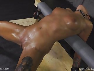 Kinky brunette lesbian got tied up and forced to cum in every way her Mistress could imagine