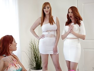Three redheads love playing with each other's orgasmic pussies
