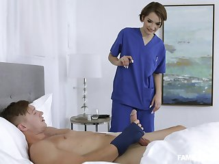 Sweet nurse with this guy even though his wife is at home