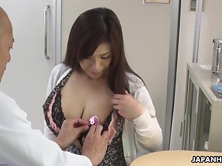 Hot Japanese babe needs some sexual therapy and her tits are so huge