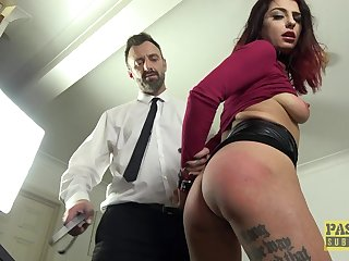 Desirable redhead cutie Cat Collar in dirty BDSM sex video