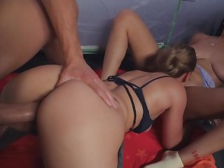 Horny man gets the privilege of smashing these babes asses