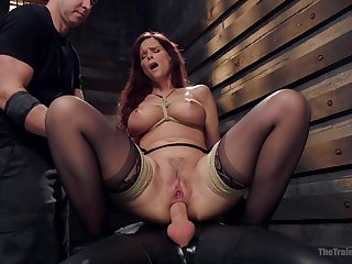 Busty grown up ass fucked while playing fully submissive